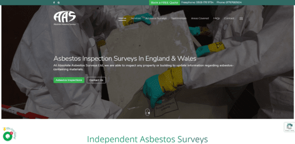 Absolute Asbestos Surveys Ltd Website